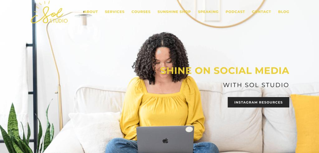 Homepage Sol Studio