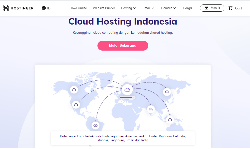 Layanan cloud hosting Hostinger