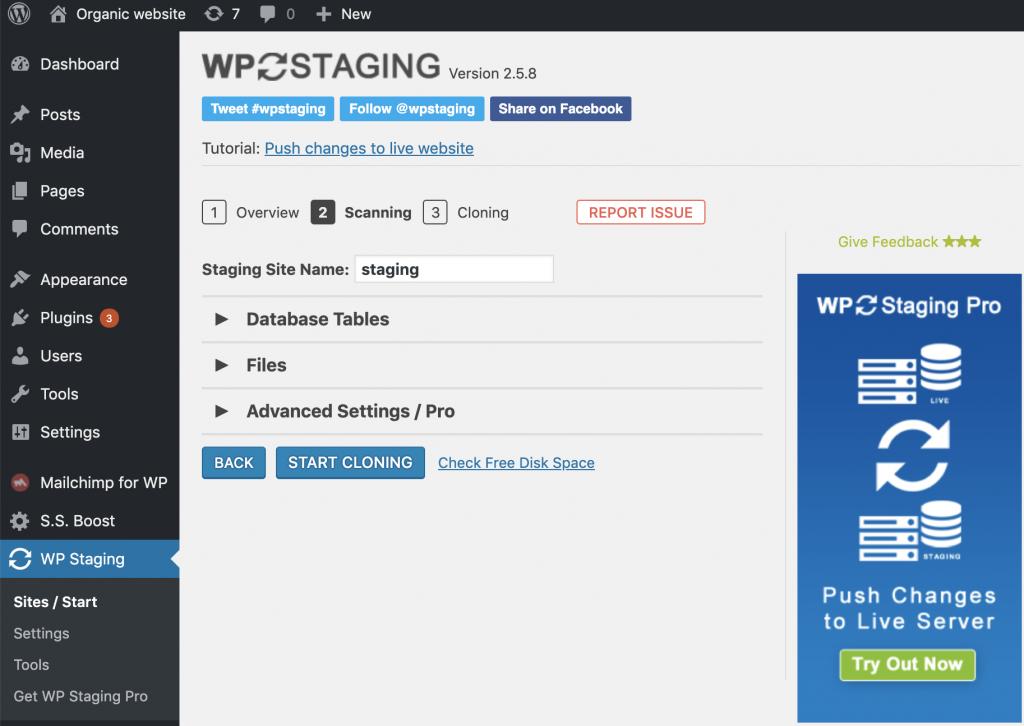 Cara cloning website untuk staging