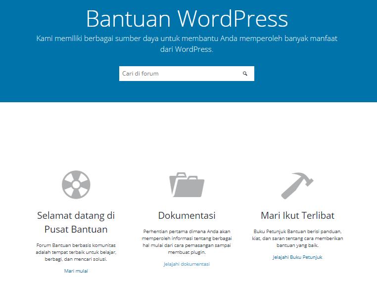Forum dan situs dukungan WP