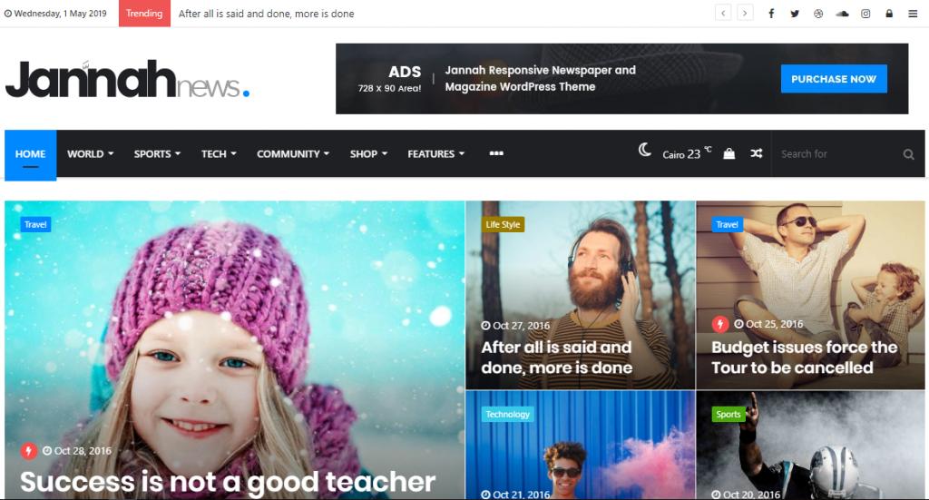 Jannah, tema WordPress tercepat