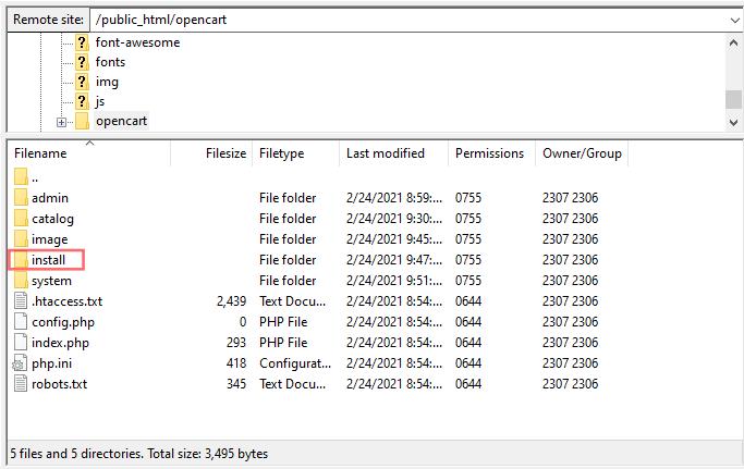 Filezilla install