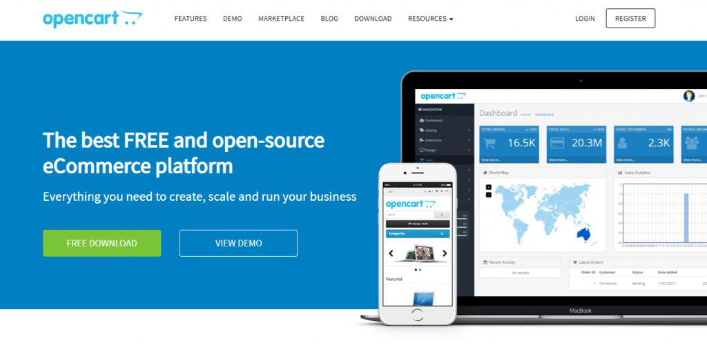 Website OpenCart