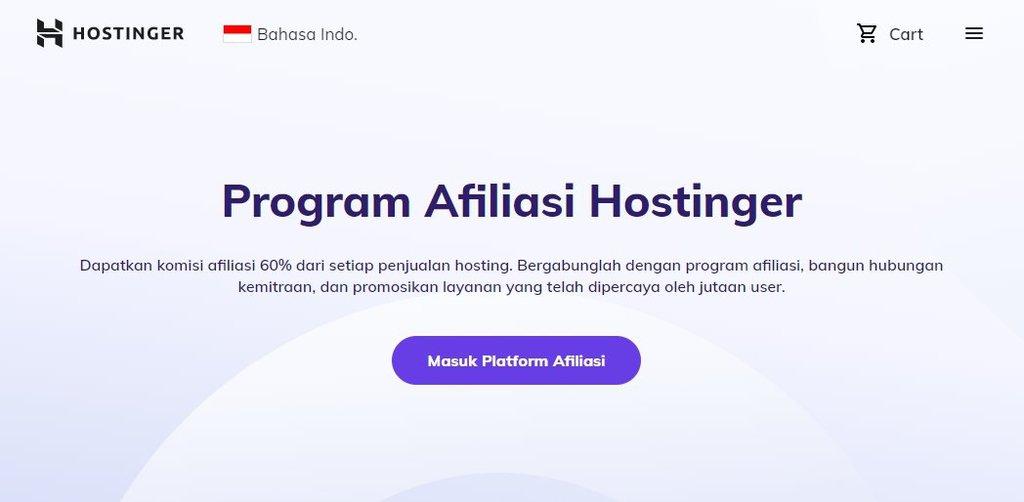 Program Afiliasi Hostinger sebagai strategi digital marketing