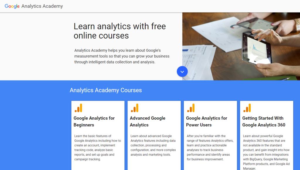 Belajar analytics di Google Analytics Academy