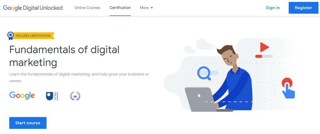 Belajar digital marketing dari nol dengan Google Digital Unlocked