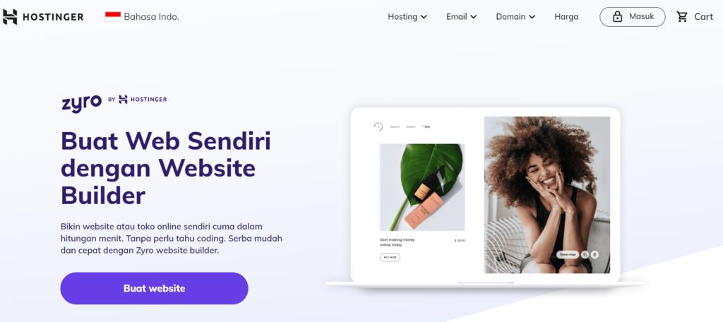 Buat website dengan website builder